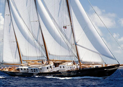 Fleurtje at the Antigua Classic Yacht Regatta
